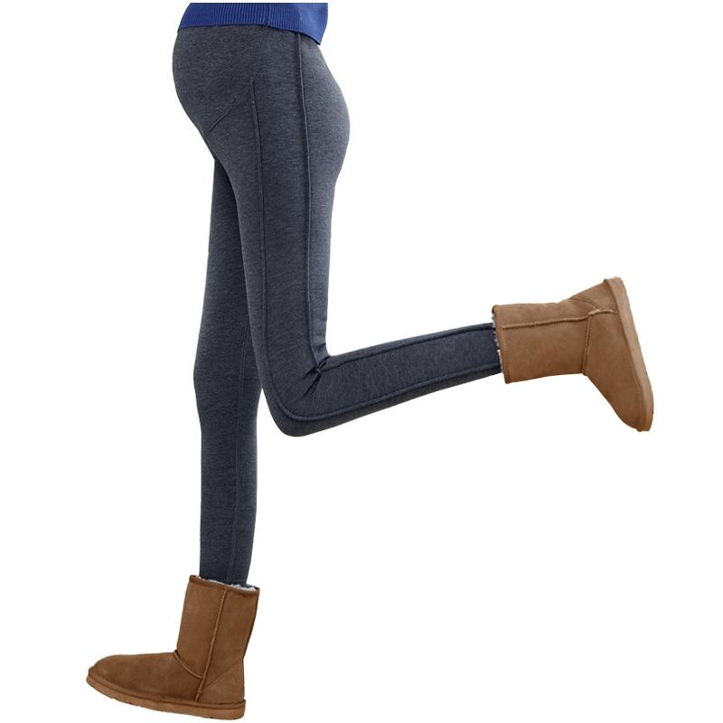 孕妇打底保暖棉裤加绒加厚孕妇装冬装怀孕长裤子3-9个月冬季外穿