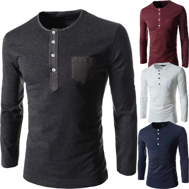 af24a1ddeda Brand Autumn O Neck Tees Men Clothes Sport Tops