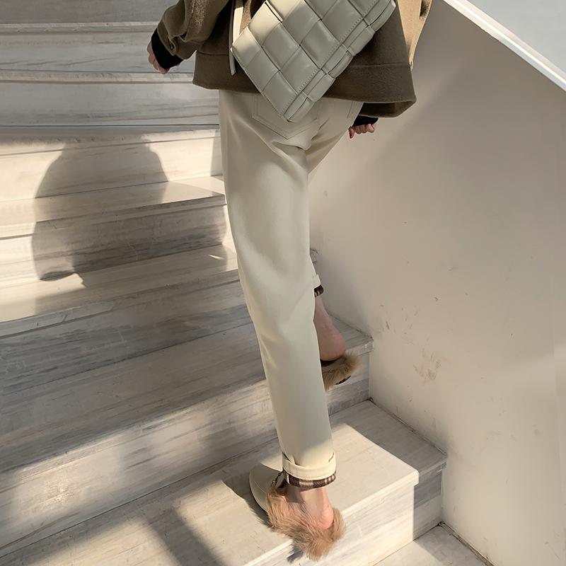 加厚斜纹牛仔裤,洋气温暖显瘦还不贵