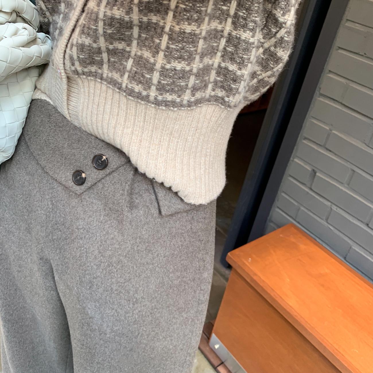 阔腿裤冬季显瘦全靠它,高腰决定一切