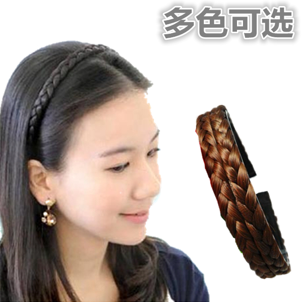 Wig female braider hairpin twist braid hairband wide non-slip toothed  Korean fashion pressure hair 218ca3c7953