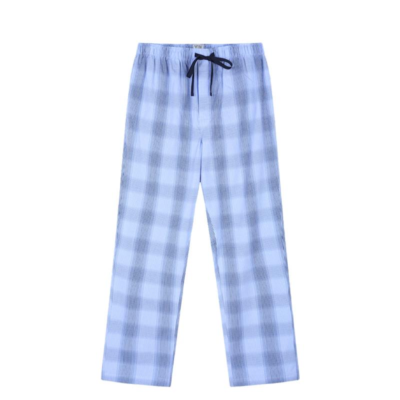 SCHIESSER Quần áo nam cotton Đức kiểm tra đồ ngủ nam 39 / 15378P - Quần tây