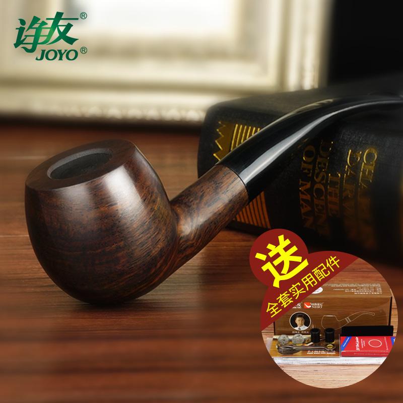 诤 Дружная труба мужской Урожай камень nanmu деревянный фильтр дым горшок сухая труба табак курить винтаж комплект