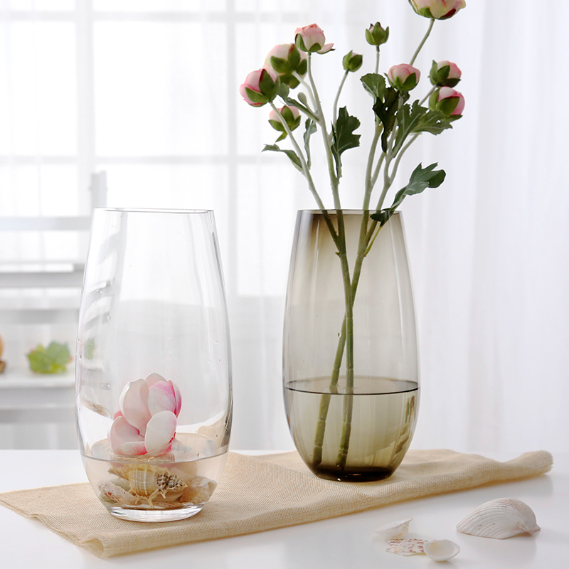 European Colored Glass Vase Transparent Living Room Glass Crafts