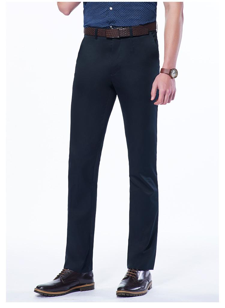 Tigers 2018 cotton mùa hè mới kinh doanh thẳng loose quần âu ăn mặc kinh doanh dụng cụ nam quần