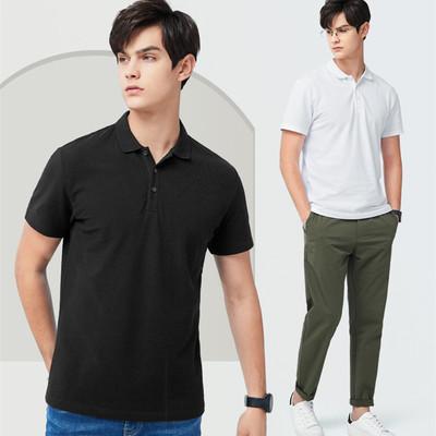骆驼男装 2021夏季新款商务短袖Polo衫男韩版纯色纯棉t恤上衣打底