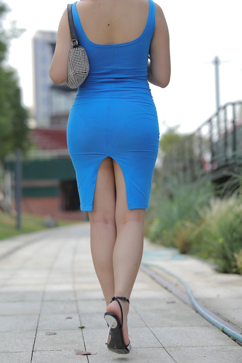 凯恩模拍作品丰腴的蓝色包臀裙美女【视频+图片】 40824082  帖子ID:763