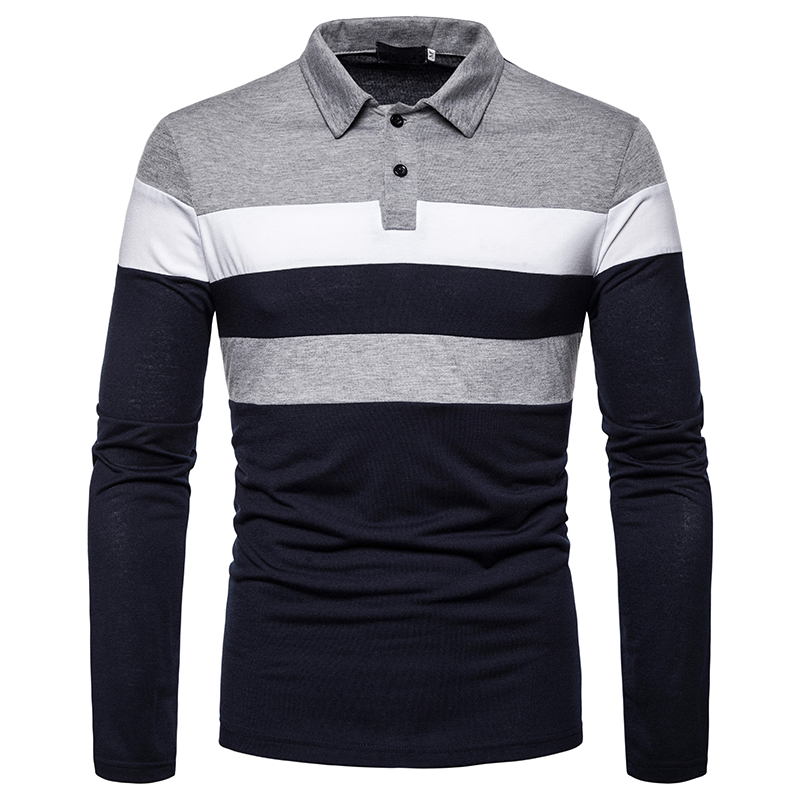 O1CN018EkzKa1cmzoe6vGhP !!282993644 Men's POLO Tri-Color Sweatshirt