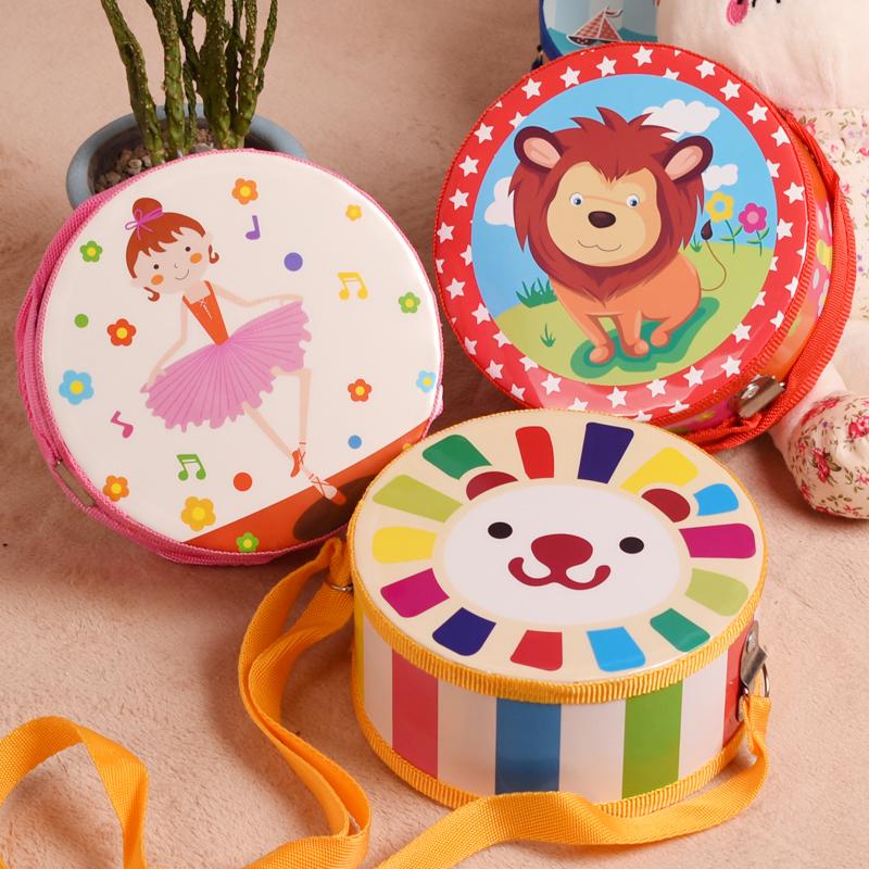 小鼓手拍鼓乐器女孩婴儿军鼓腰鼓宝宝敲鼓男玩具0-3岁奥尔夫儿童