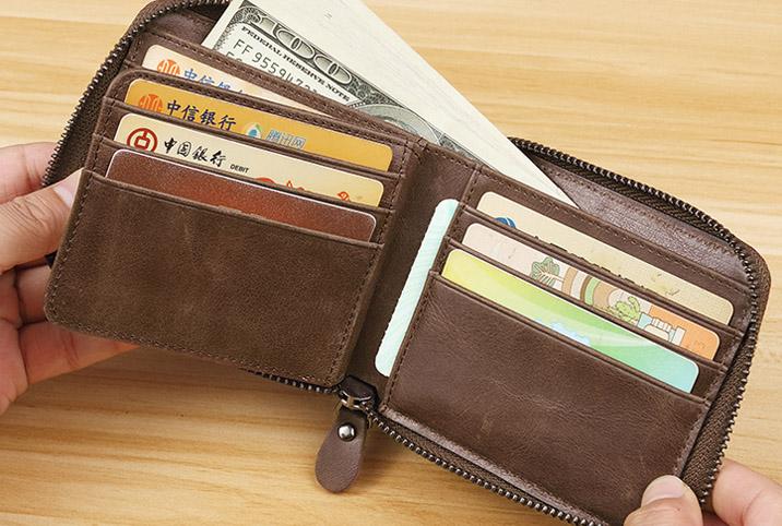 时尚短款男士真皮钱包,实用又能凹造型