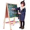 Children's drawing board double-sided magnetic small blackboard bracket type home baby painting graffiti writing board easel can be raised and lowered