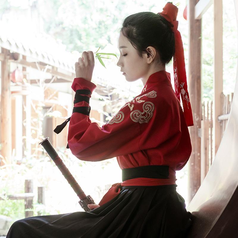 重回汉唐原创汉服情侣明曜日常非古装中国风交领齐腰襦裙男女夏装