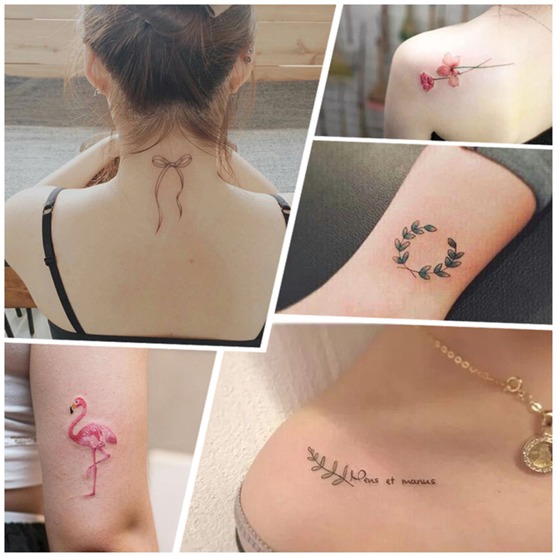 3b0953d703ff7 ... A 30 tattoo stickers waterproof female durable Korean simulation small  fresh flowers sexy English clavicle tattoo ...