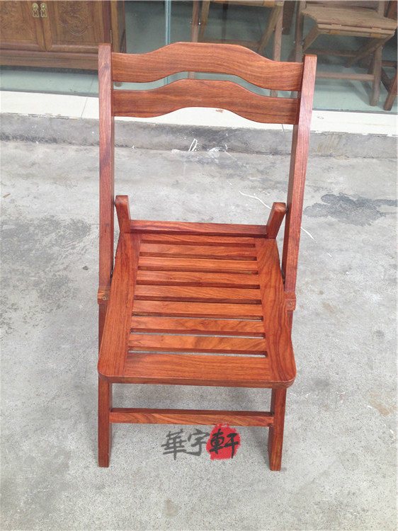 Mahogany folding chair African rosewood folding chair mahogany outdoor chair  fishing chair leisure back chair beach - USD 158.77] Mahogany Folding Chair African Rosewood Folding Chair