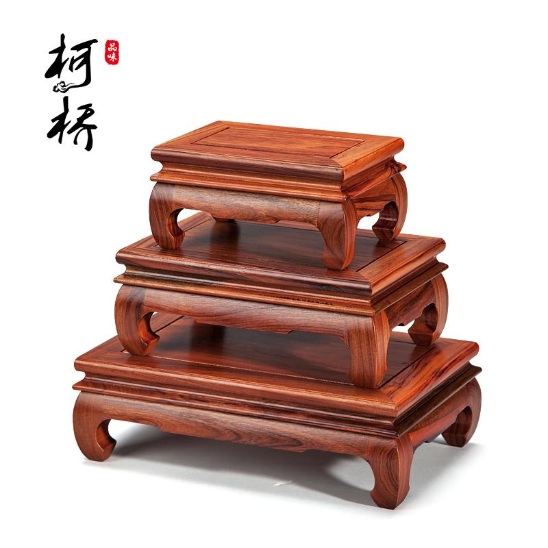 红木长方形实木底座工艺品摆件花梨木紫砂壶木托鱼缸高脚托架花瓶