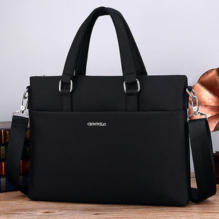 New Paul men's handbags horns full canvas Oxford cloth briefcase shoulder diagonal computer file men's bag