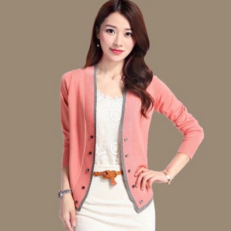 秋水哥弟品牌短款羊毛针织衫女空调v秋水夏季新款开衫衫外搭小外套