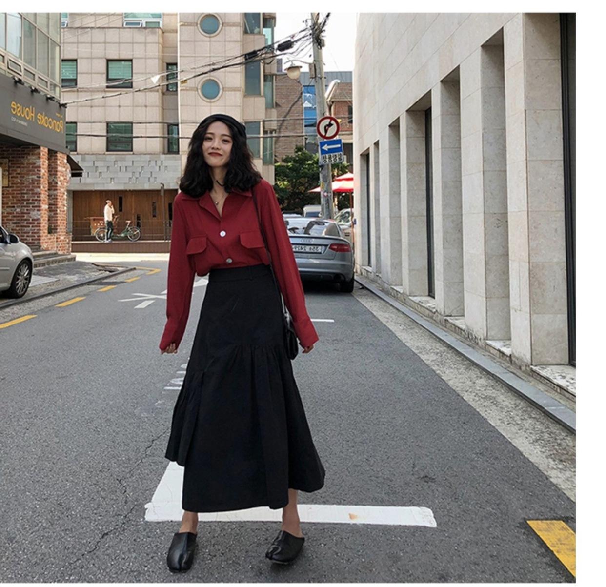 早秋裝2019年新款流行裙子初秋款套裝女時尚兩件套胖mm大碼女裝潮