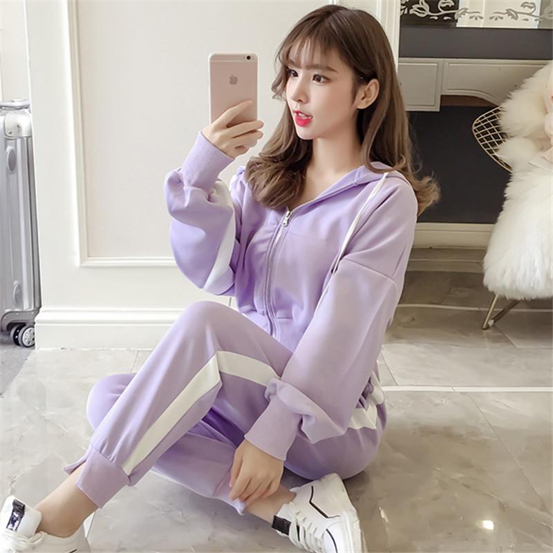 运动套装女2018新款秋季韩版两件套_网红优惠券
