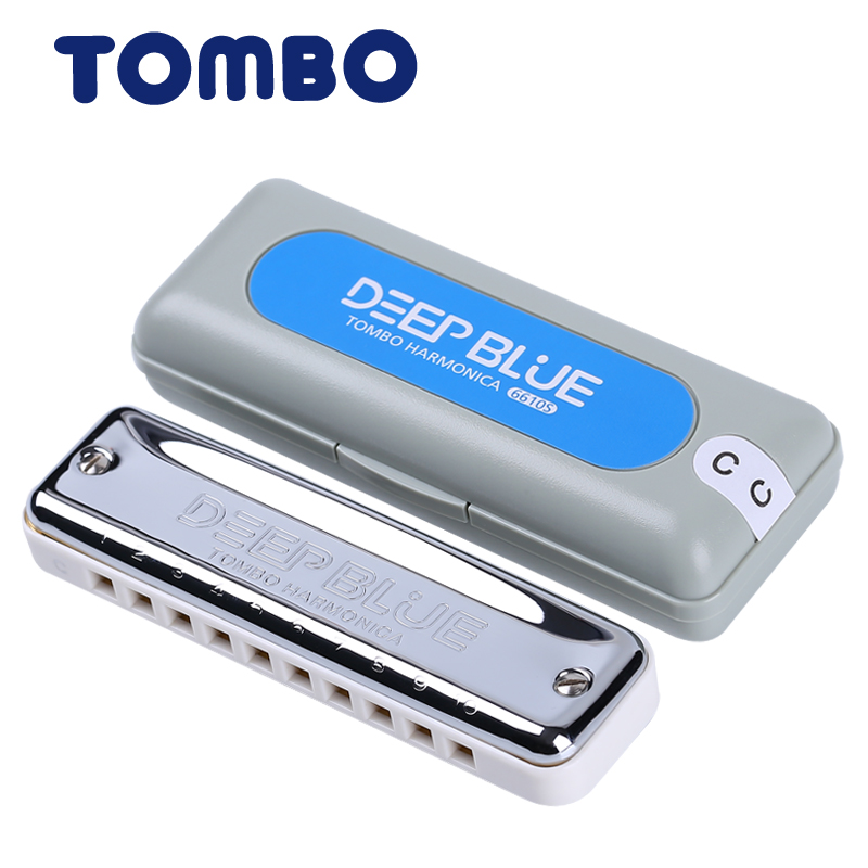 TOMBO Tongbao new ten hole 10 hole blues harmonica DEEP BLUE 6610S adult children