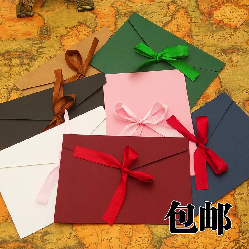 信封请柬套装3号韩国复古风西式信封小清新浪漫唯美信纸情书包邮