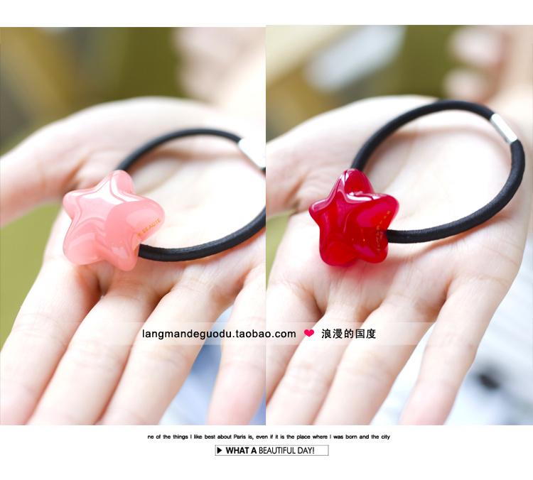 Заколки Южная Корея импортировала подлинные Аксессуары для волос зерном ДЕ БОТЭ/Азнавур пятиконечная звезда волос кольцо волос веревки резинкой