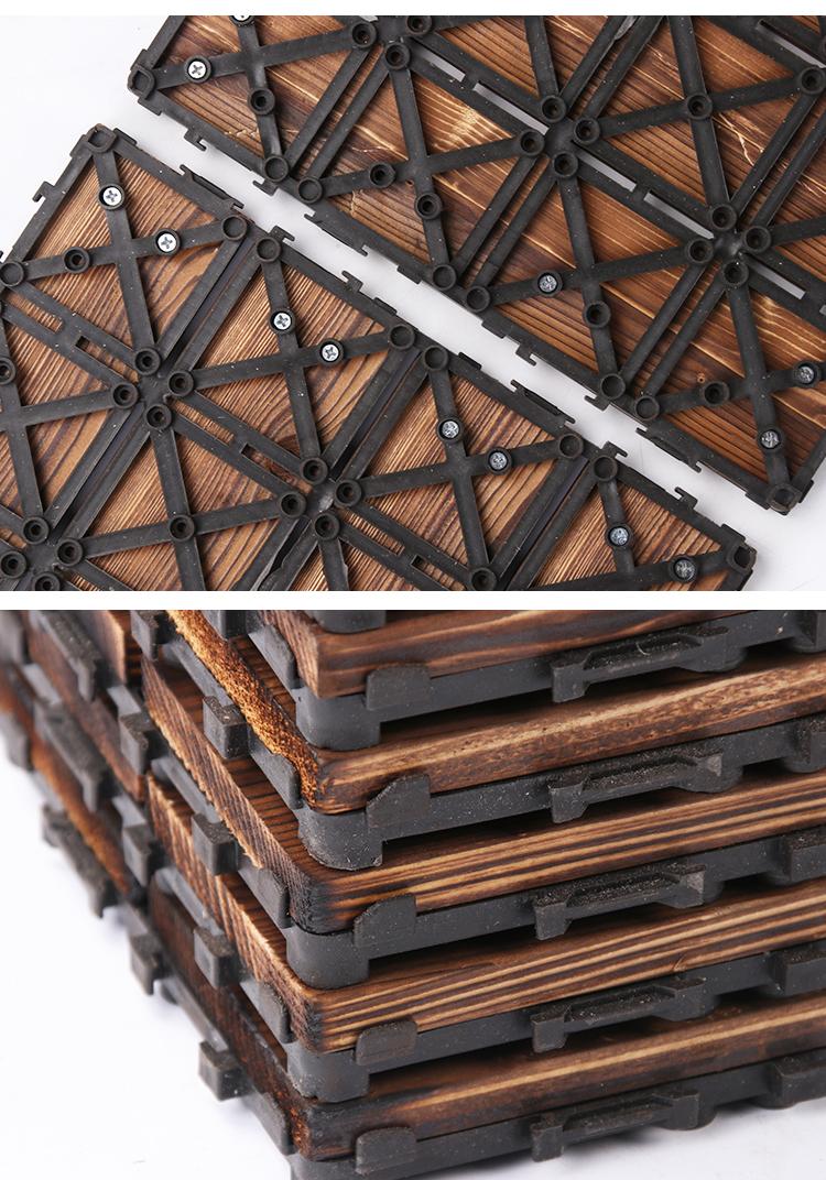 防腐木地板户外露台花园阳台木地板拼接室外庭院地面铺设防腐板材