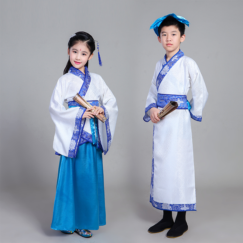 Children's costumes Hanfu children's disciples national costumes boys and girls three-character performances dance costumes
