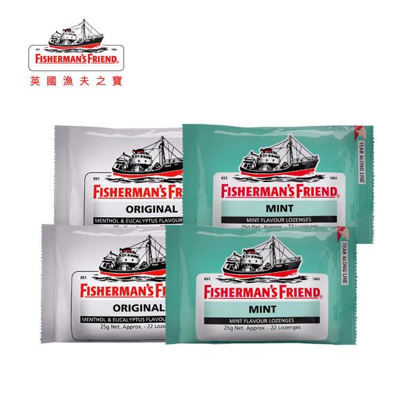 英国进口 Fisherman's Friend 渔夫之宝 润喉糖 25g*4盒 天猫优惠券折后¥29包邮包税(¥39-10)