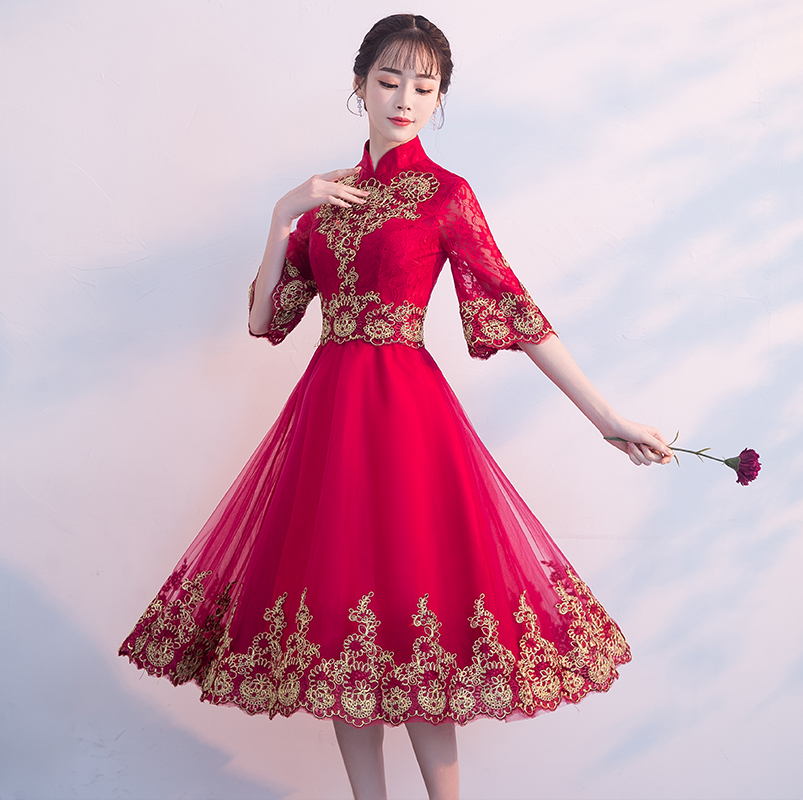 Toast Clothing New Spring Bride Wedding Engagement Cheongsam 2018