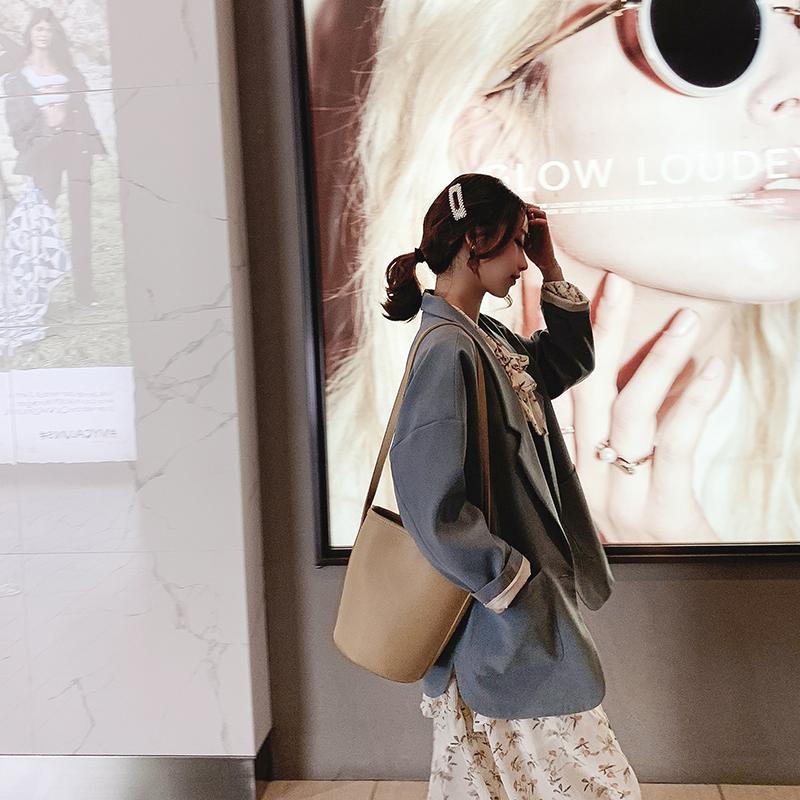 网红chic小西装外套女装春秋季2019新款韩版宽松短款复古休闲西服
