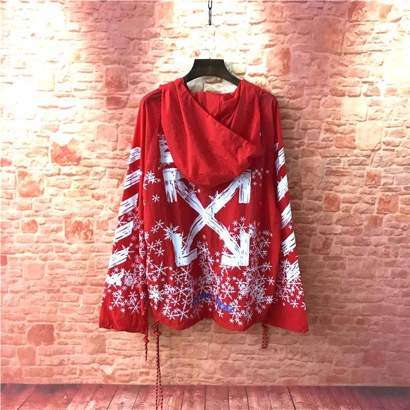 OWFOFF-TRẮNG mặt trời quần áo bảo hộ áo khoác tắt thư splash mực graffiti quần áo chống nắng áo khoác nam giới và phụ nữ áo gió