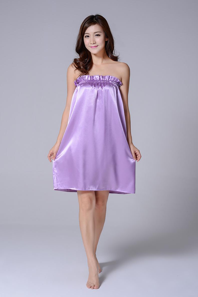Váy lụa lụa màu tím (1)