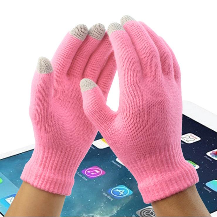 触屏手套可触摸屏手套冬季手套抓绒a手套毛线女男情侣手套包邮
