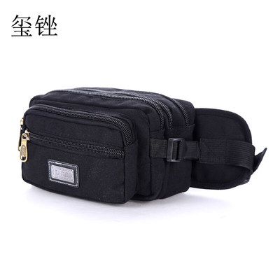 Xi file luggage retro canvas pockets male outdoor sports pockets small chest pocket mobile phone pockets female travel portable small