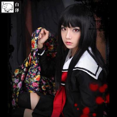 taobao agent Bai Ze hell girl Yan Moai cosplay costume full set of anime COS women's black and white sailor uniform