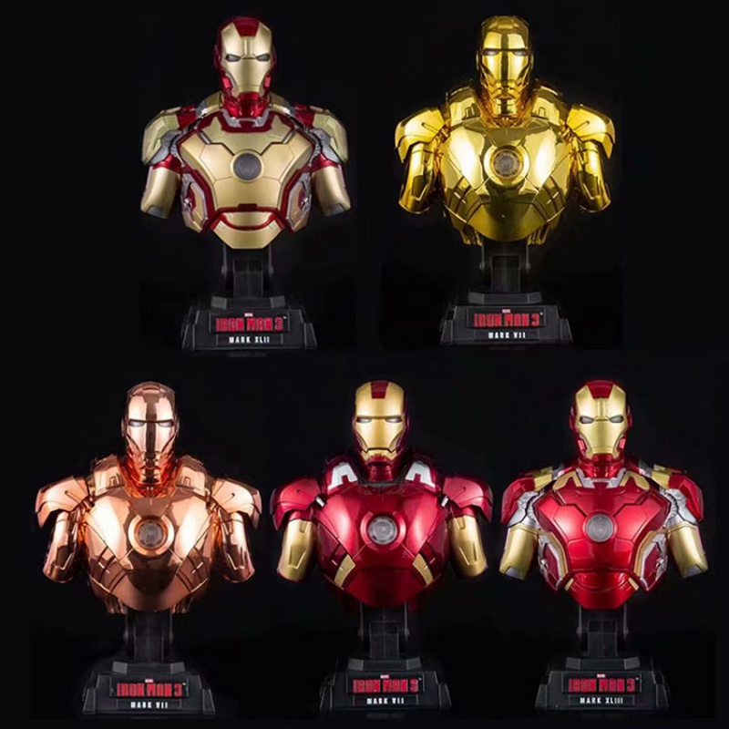 The Avengers Iron Man MK43 1//4 Scale Bust Statue Light Up Collection 23cm