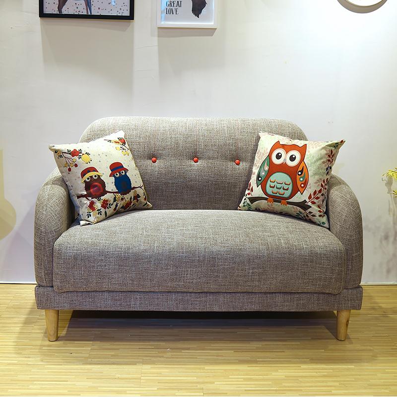 北欧小沙发卧室租房客厅小户型二人两人位网红迷你服装店双人沙发