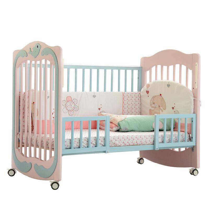 babysing多功能实木婴儿床