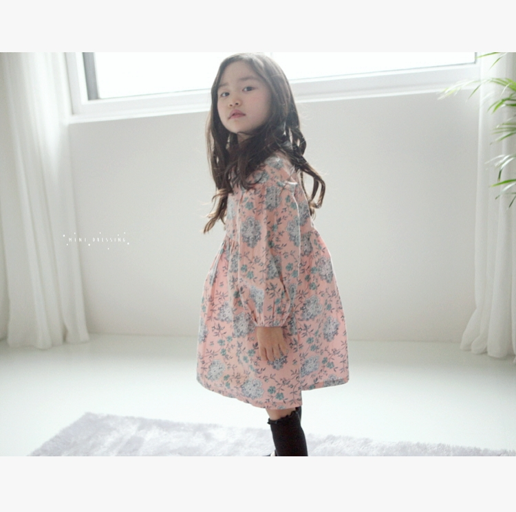 c998eb961be (Clearance is not returned)South Korea mini dressing children girls floral  color dress skirt