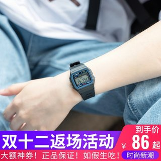 Japan genuine Casio F-91W / F-84 / F105 watch men and women classic retro electronic watch student children