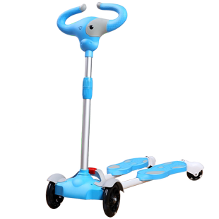 儿童双脚蛙式滑板剪刀车