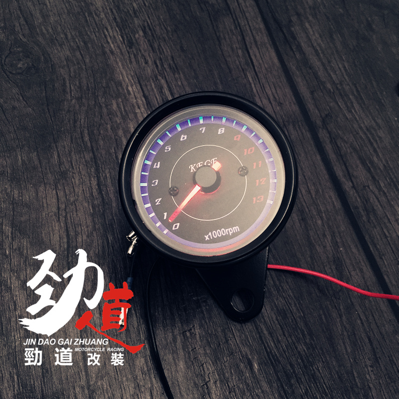 Motorcycle conversion instrument Mechanical tachometer LED light scooter  Cross-riding 13,000 electronic tachometer