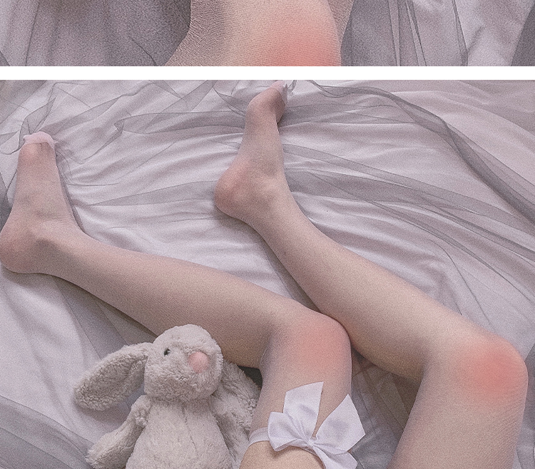 O1CN01pSzAKZ20A6yxqXwGT !!2869956808 - Pink Bow handmade Stockings Women Sexy Stockings Velvet Thigh High Sheer Over Knee Hosiery Anime Accesories Lolita Socks