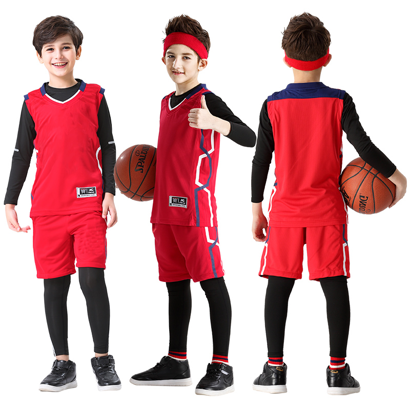 CHILDREN'S 4 PIECE SET CAN BE FREELY EQUIPPED WITH A JERSEY (3055 RED)