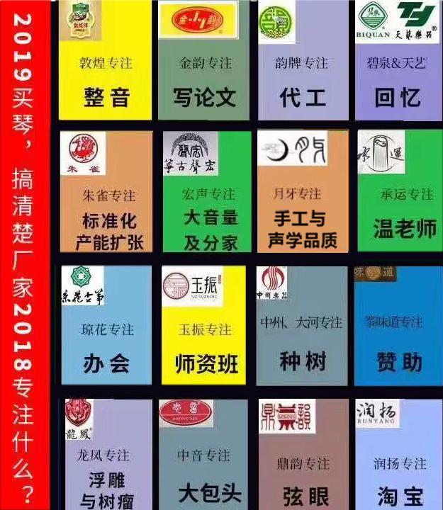 2018古筝品牌趣图(转自网络)