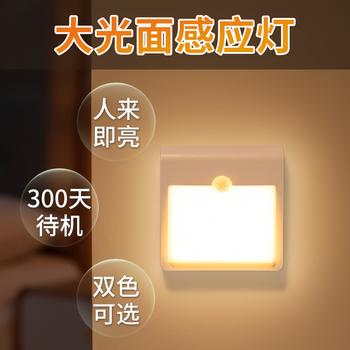 Ночники,  Умный организм индуктивный тип зарядки маленькие модели звёздная ночь голос управление светом домой живая дорога лестница земля ступня настенный светильник не отключен, цена 435 руб