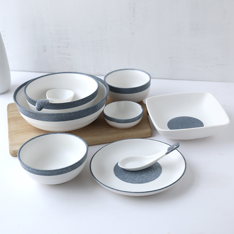 Shori Japanese style simple ceramic snowflake glaze cool dish dish dish dishes rice bowl soup bowls : snowflake tableware - pezcame.com