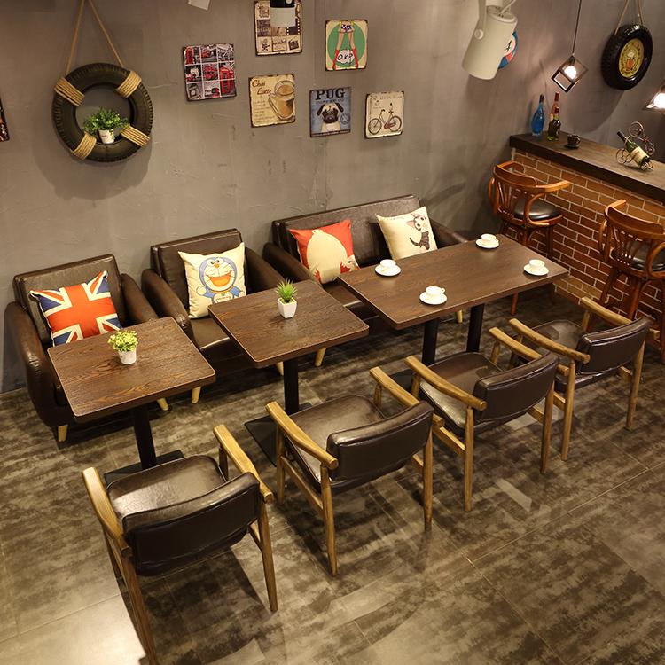 Retro Milk Tea Dessert Shop Starbucks Western Cafe Table And Chair Simple  Leisure Reception Just Talking ...