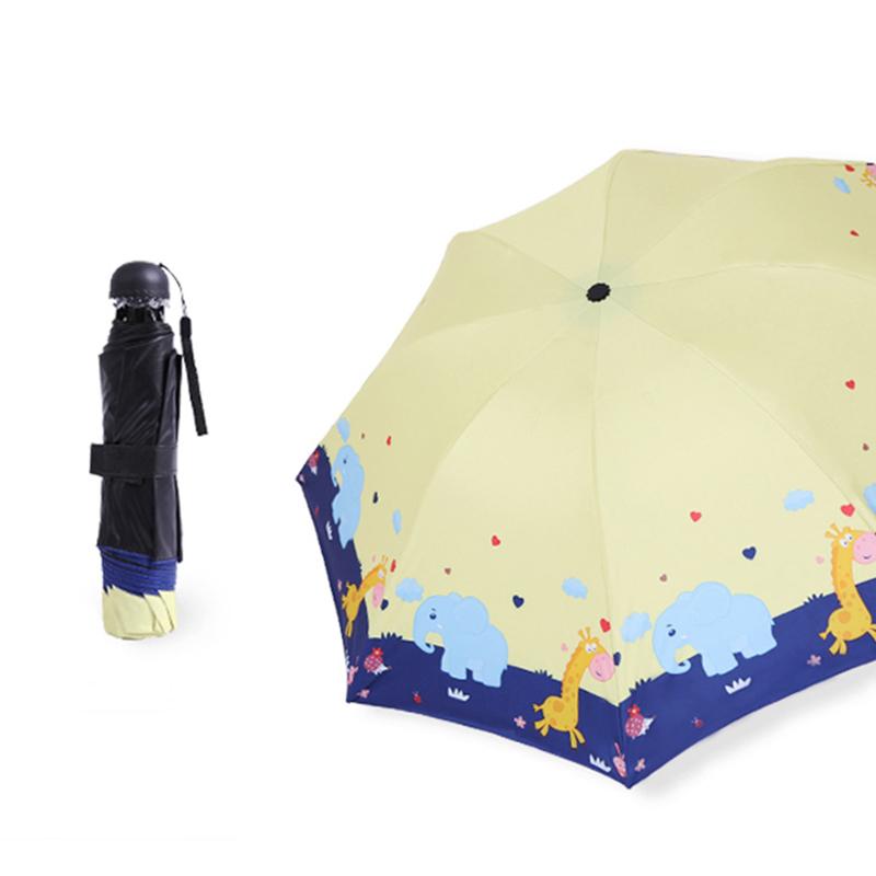 反光条儿童雨伞全自动男童女童小学生折叠轻便小太阳伞小孩上学伞